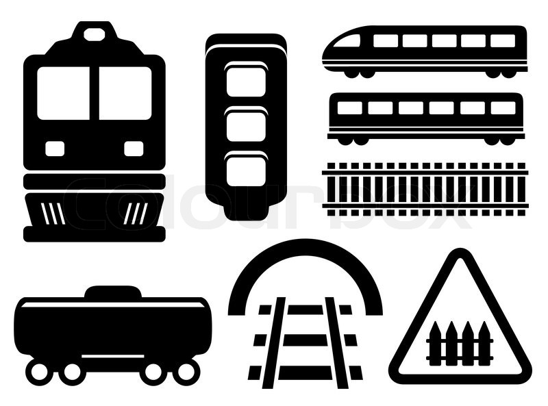 Train conductor clipart black and white