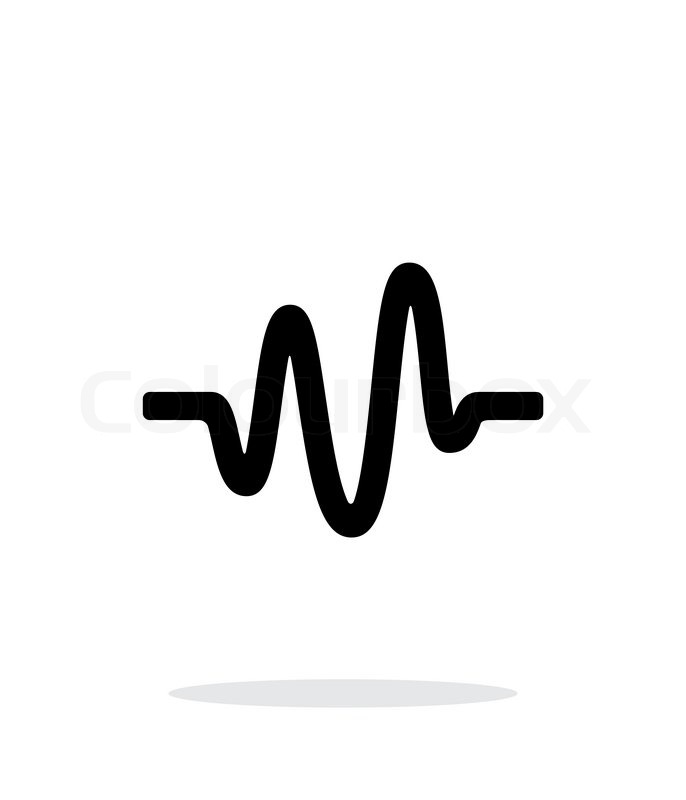 Sound Wave Icon On White Background Vector 11912199 on telephone radio waves