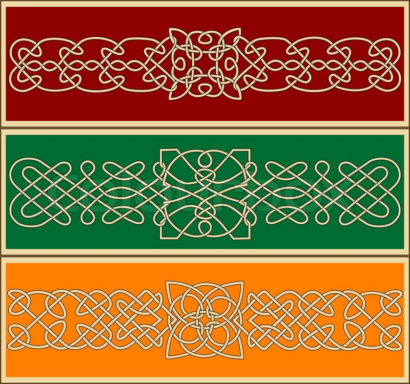 Celtic ornaments and patterns for design and ornate for Irish mail cart plans