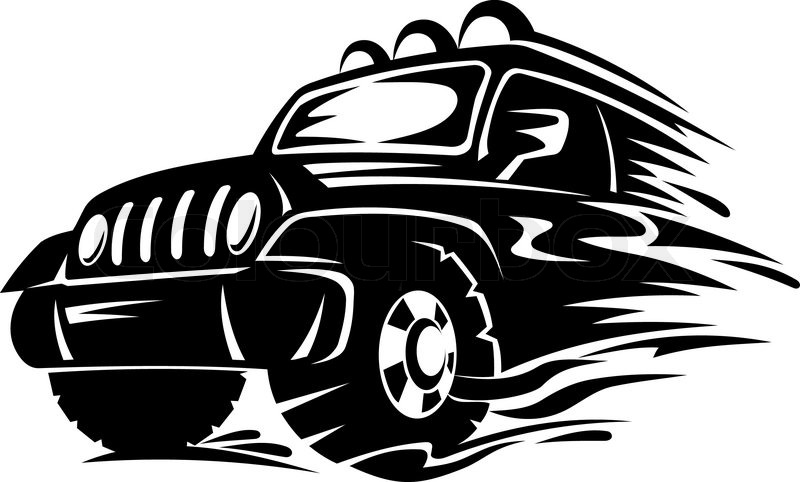 Crossover Car For Extreme Sports Design Vector