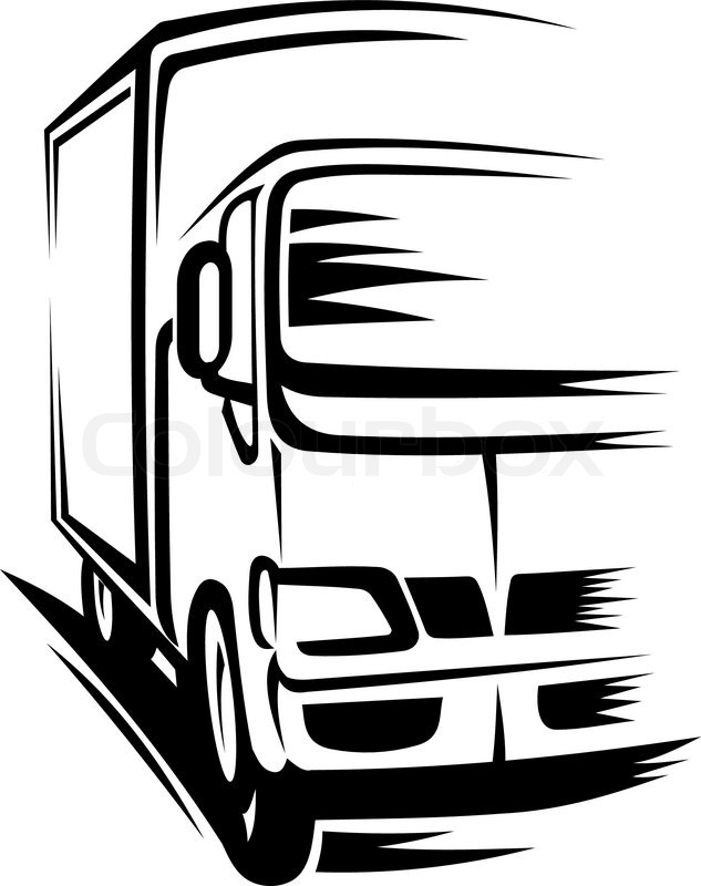 delivery truck moving on road for transportation concepts stock rh colourbox com truck vector free truck vector free download