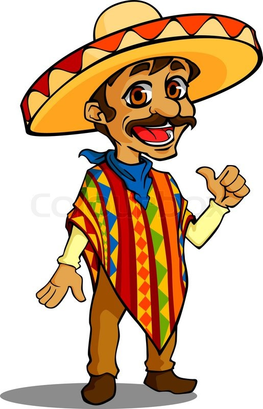 Mexican man in cartoon style isolated ...   Stock Vector ...