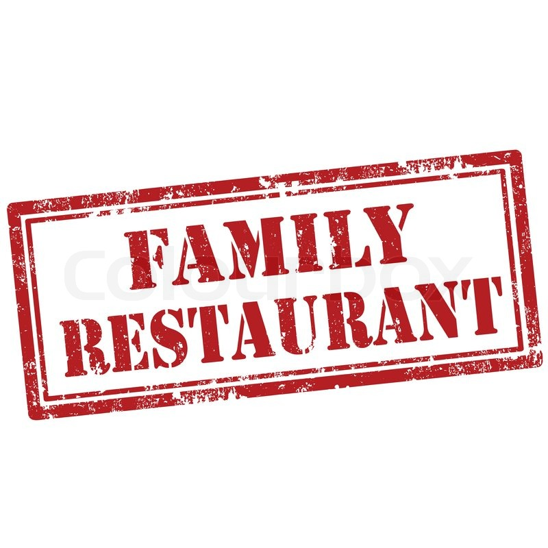 grunge rubber stamp with text family restaurant vector illustration