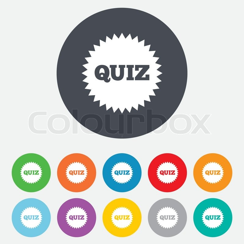 Quiz Star Sign Icon Questions And Answers Game Symbol Round