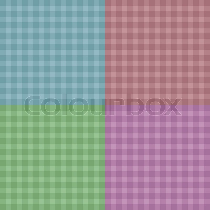 Vector illustration background. Easy tileable red, blue, pink and ...