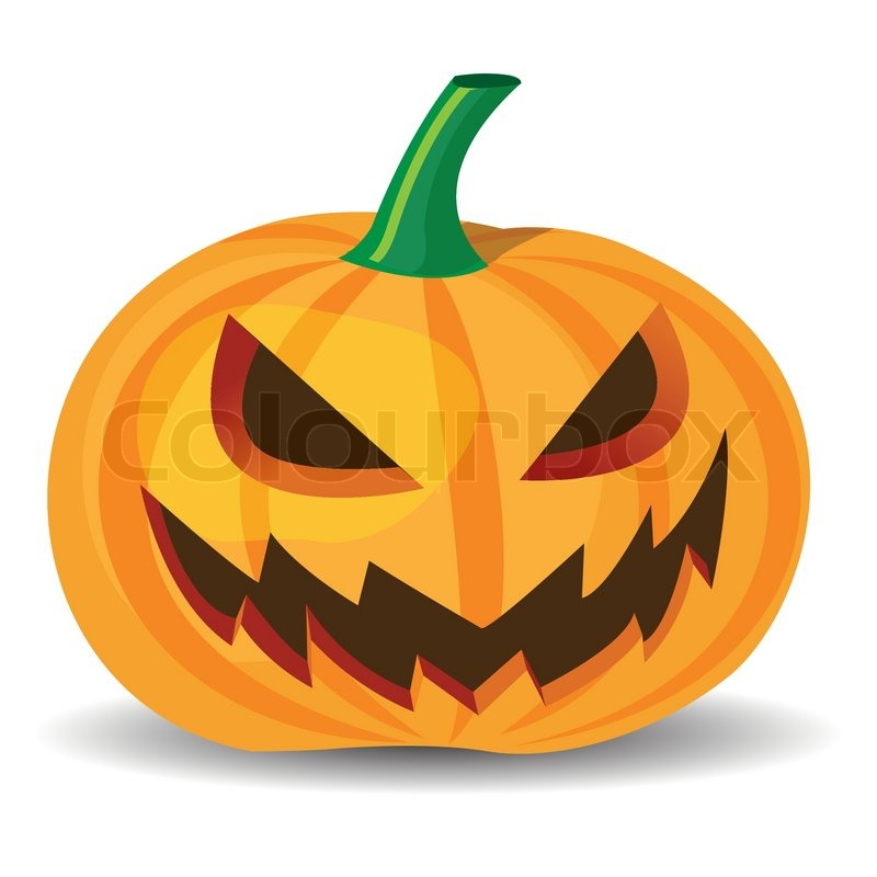 halloween pumpkin with evil grinning  vector format spooky clip art free spooky clipart saying