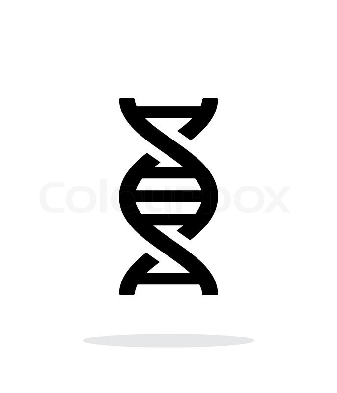 Dna Background Black Dna Icon on White Background