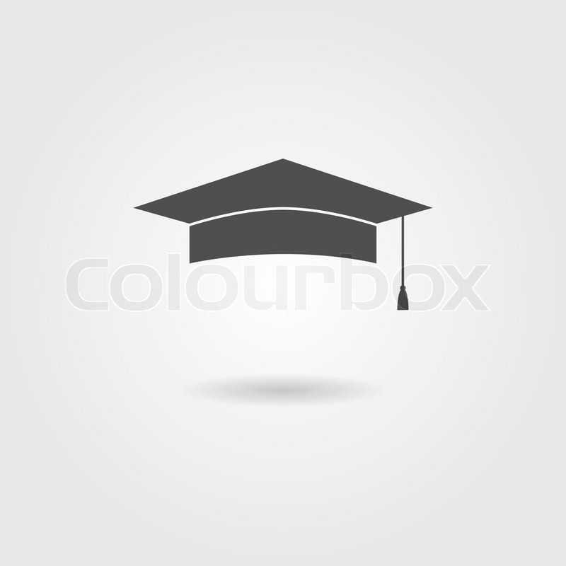 graduation cap with shadow logo design modern vector illustration rh colourbox com graduation cap logo vector Graduation Cap Drawing