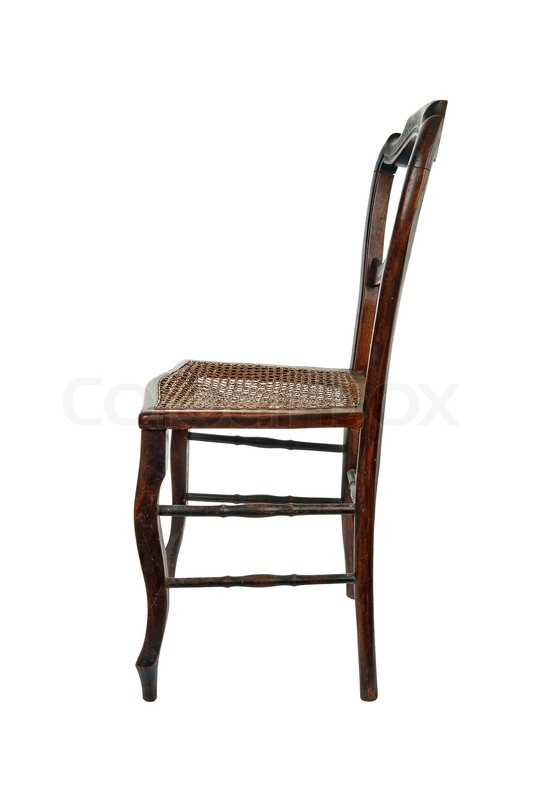 wooden chair side view. Exellent Wooden Antique Wooden Chair With Cane Isolated On White  Side View  Stock Photo  Colourbox Throughout Wooden Chair Side View M