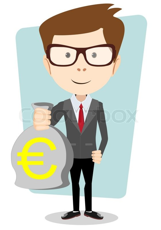 Vector Illustration Of A Wealthy Cartoon Businessman Or Banker With