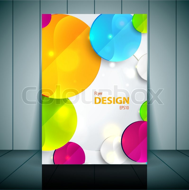 Colorful 3D Squares - Business Flyer Template Vector Design ...