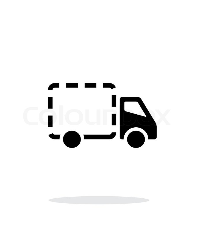 empty delivery truck icon on white background  vector