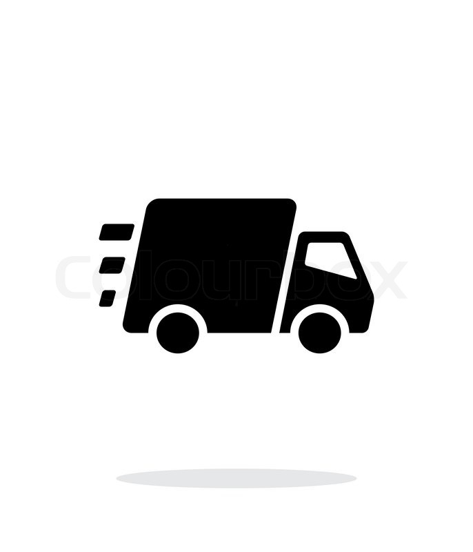 Fast delivery Truck icon on white background. Vector ...