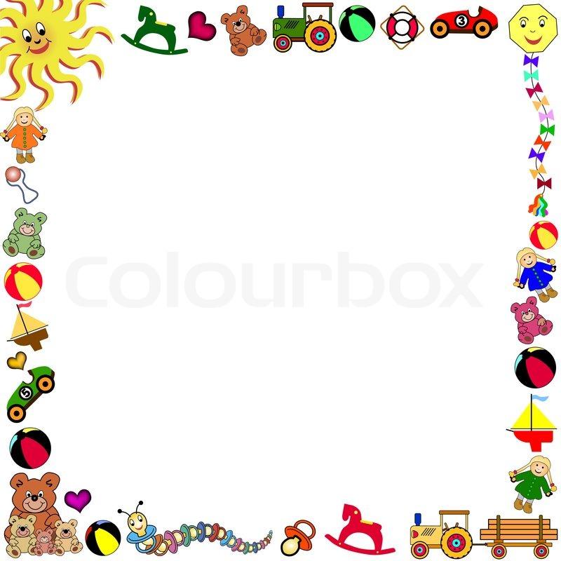 Border Toy Toys Stock Vector Colourbox