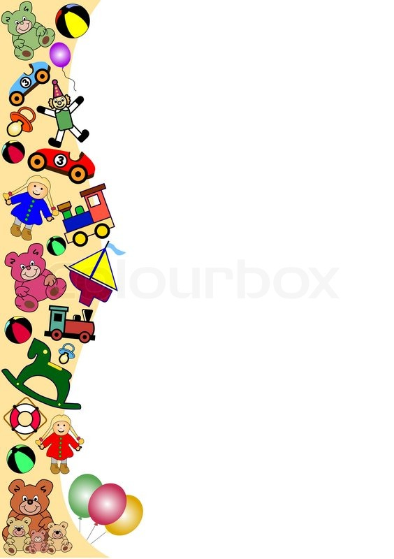 Christmas Toys Clip Art : Toy border clipart stock vector colourbox