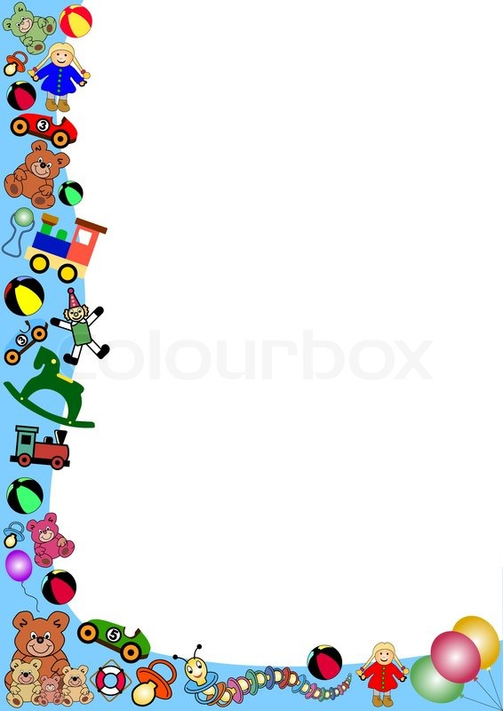 Border Clipart Toy Stock Vector Colourbox