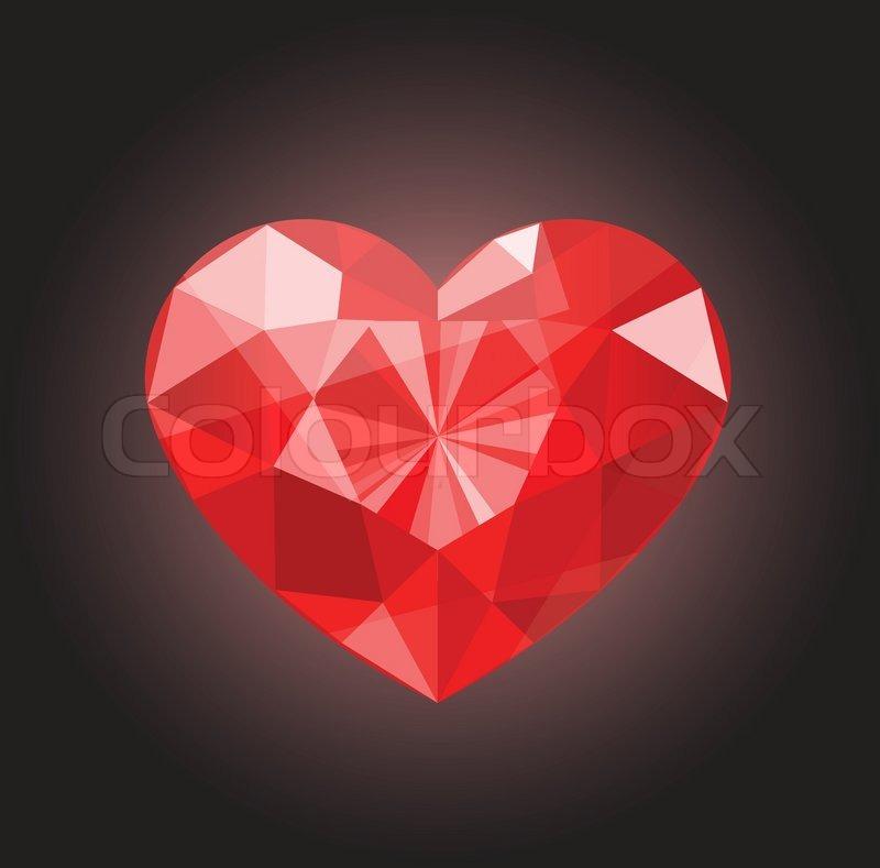 Valentinstag Herz Fur Valentinstag Vektorgrafik Colourbox
