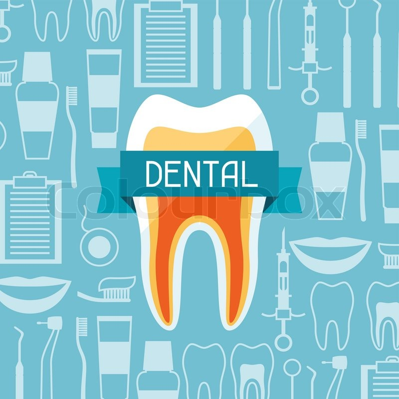 medical background design with dental equipment icons