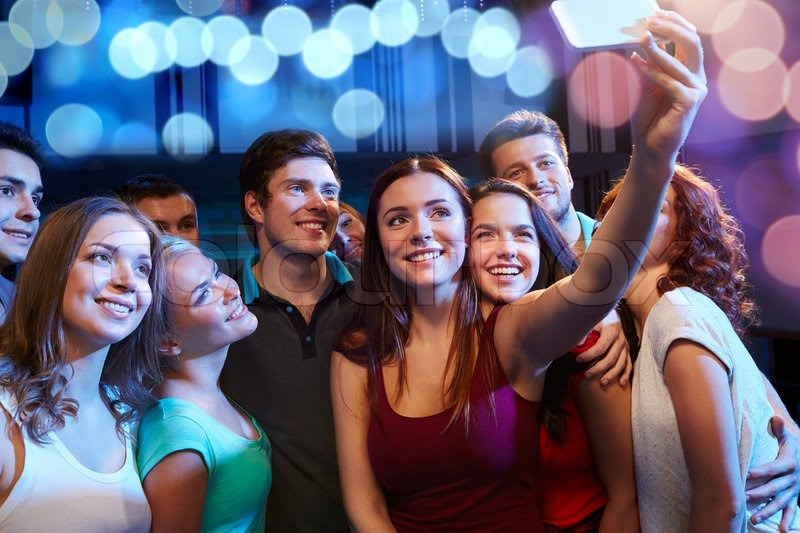 Party Technology Nightlife And People Stock Photo
