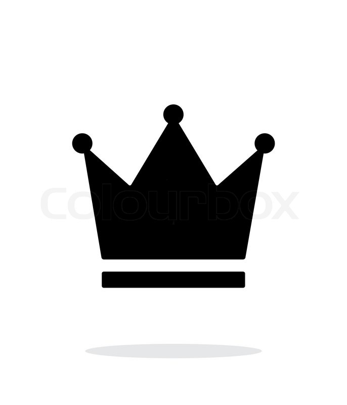 crown king icon on white background vector illustration stock rh colourbox com king crown logo vector free download king crown symbol