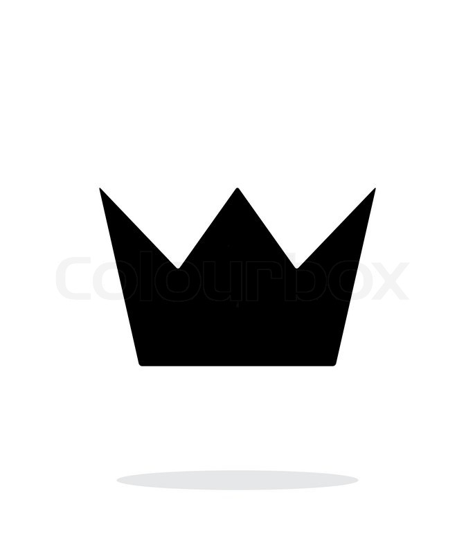 crown king icon on white background vector illustration stock rh colourbox com king crown symbol text king crown symbol text