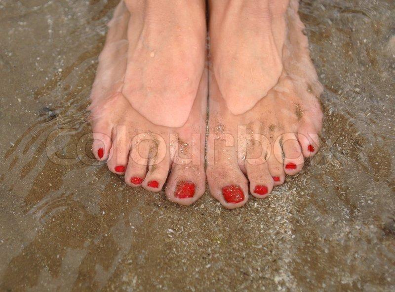 Illustrating the health benefits of Salt Water Bathing, stock photo