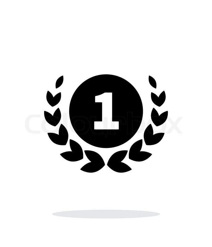 first place medal icon on white stock vector colourbox
