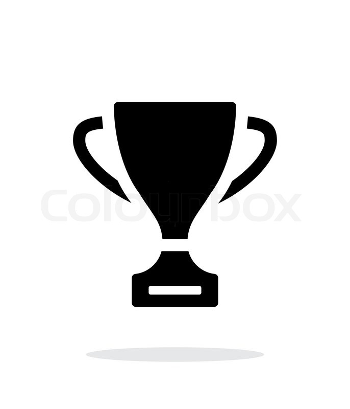 Trophy Icon On White Background Vector Illustration