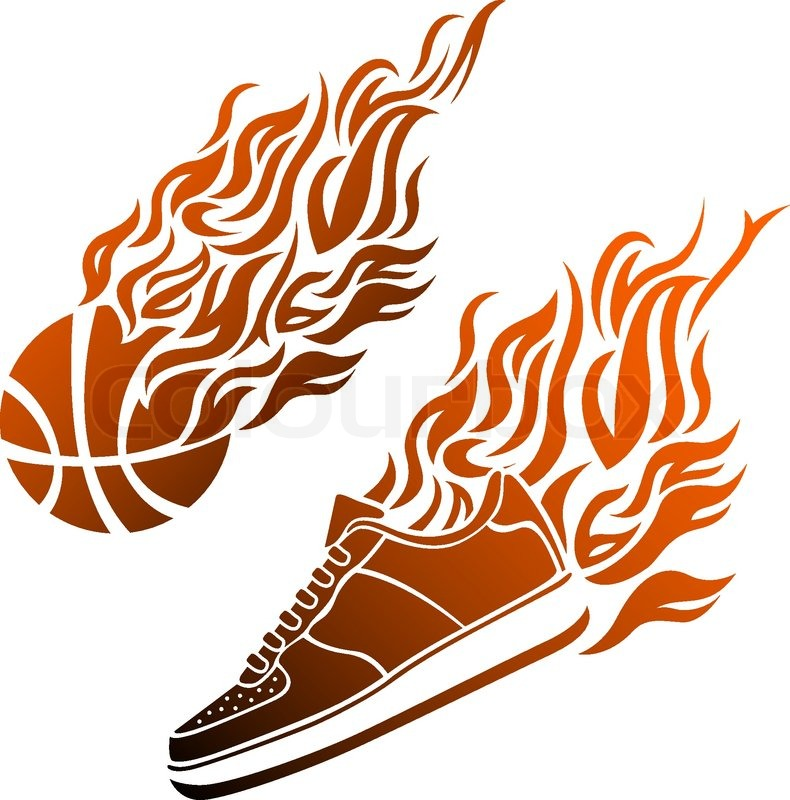 basketball with flames coloring pages - photo#22