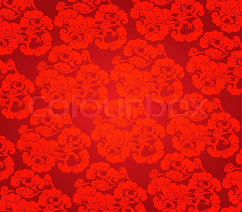 cloud abstract chinese new year background vector