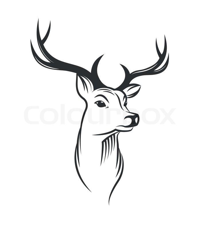 Image De Art Deer And Drawing: Hirsch, Silhouette, Hirsche