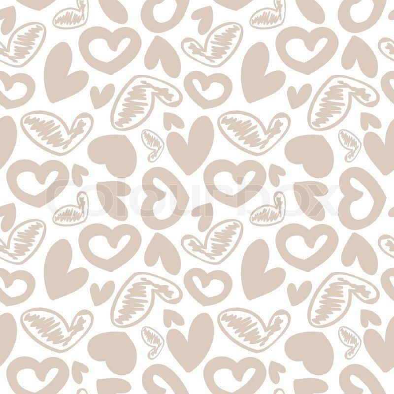 Vintage Heart Background Fun seamless vi...