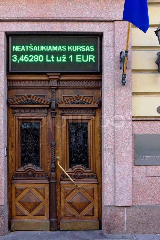 Vilnius Lithuania November 29 2014 Wooden Door Of The