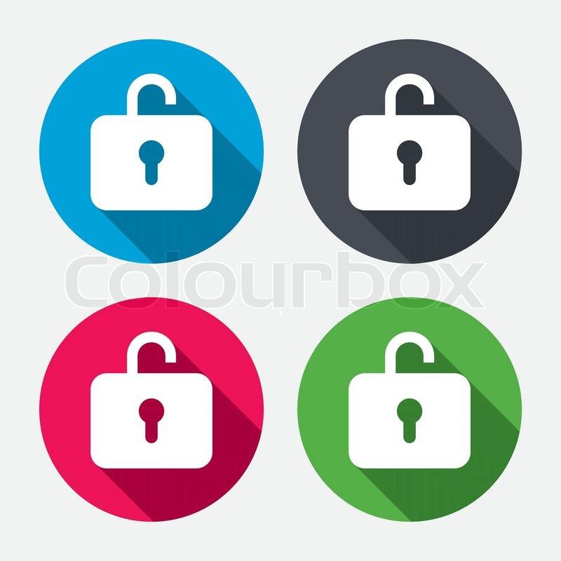 Lock sign icon  Login symbol  Circle     | Stock vector