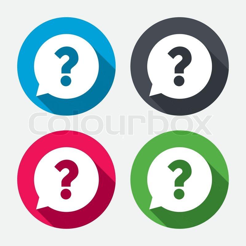 Question Mark Sign Icon Help Speech Bubble Symbol Faq Sign Circle