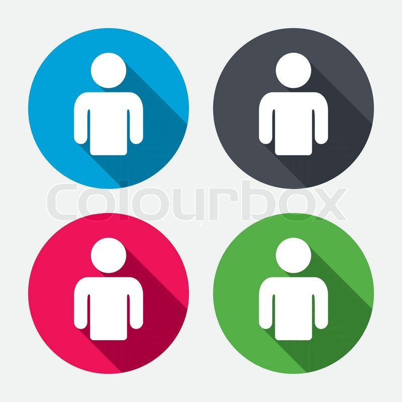 user sign icon person symbol human avatar circle buttons with rh colourbox com