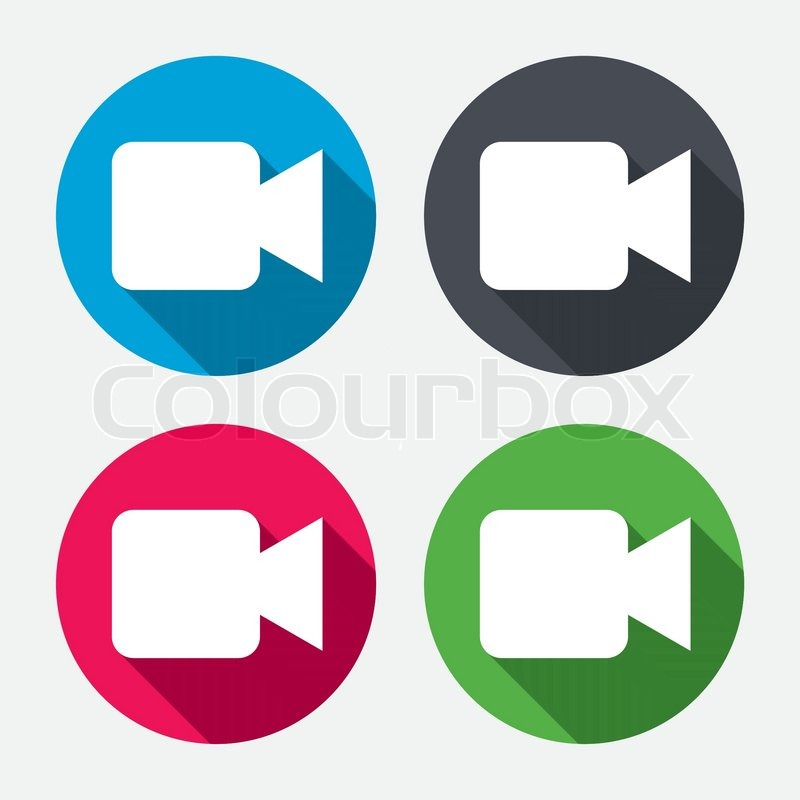 video camera sign icon video content button circle buttons with rh colourbox com instagram video icon vector video icon vector free