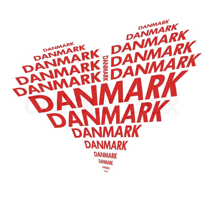 denmark heart made with text stock vector colourbox rh colourbox com heart made out of text copy and paste Heart Text Box