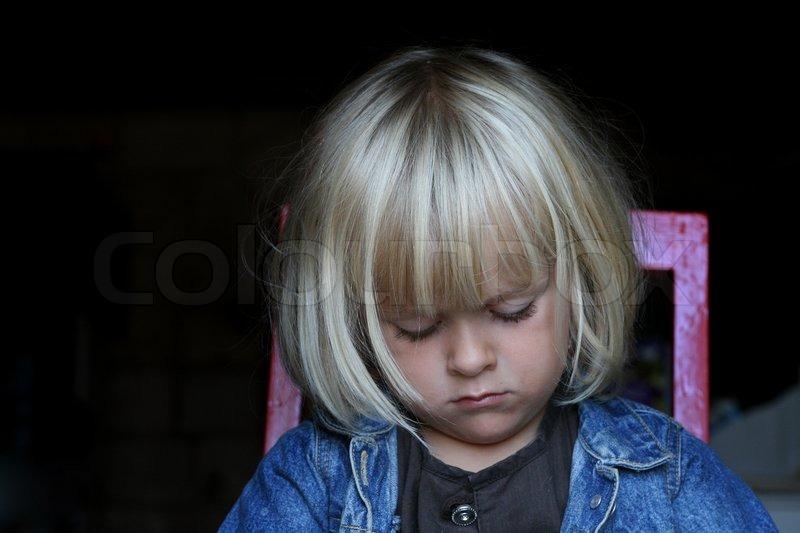 Stock foto af børn barn ked