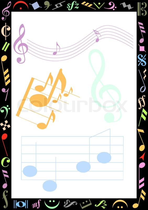 music borders for word