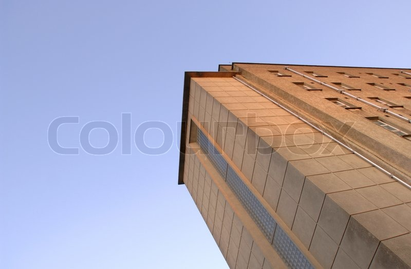 Low angle view of a building, stock photo