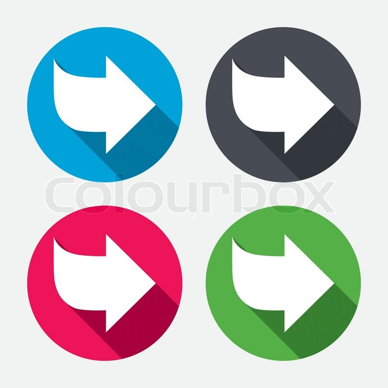 Arrow Sign Icon Next Button Navigation Symbol Circle Buttons With