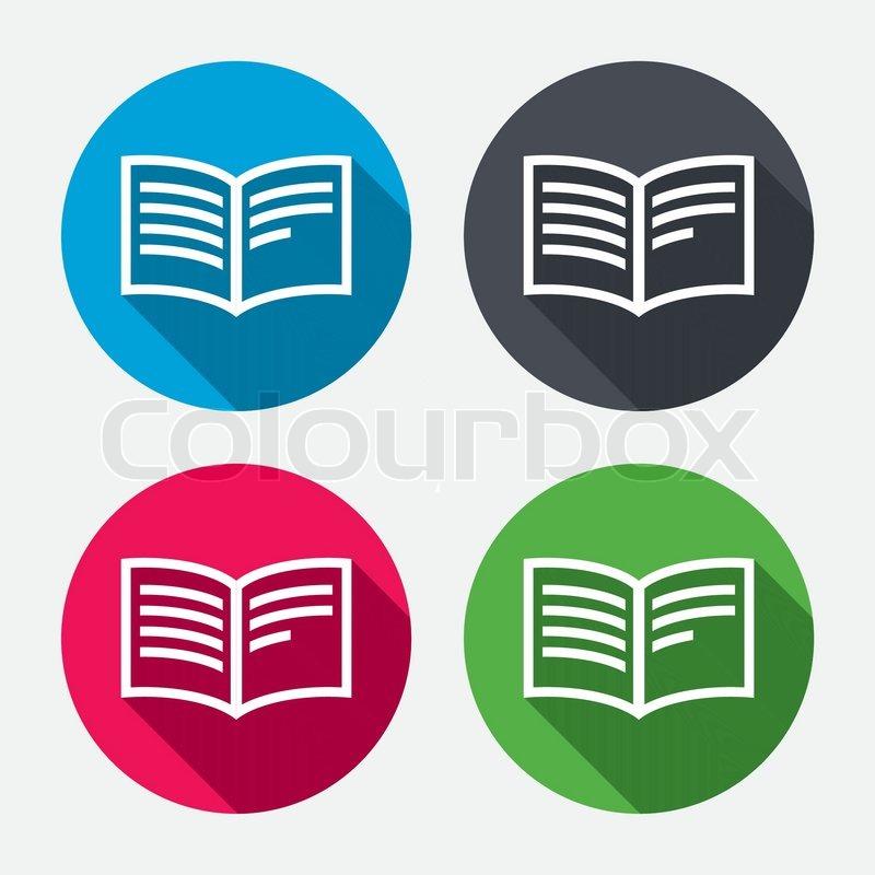 sign symbol icon open circle vector buttons shadow icons colourbox supplier