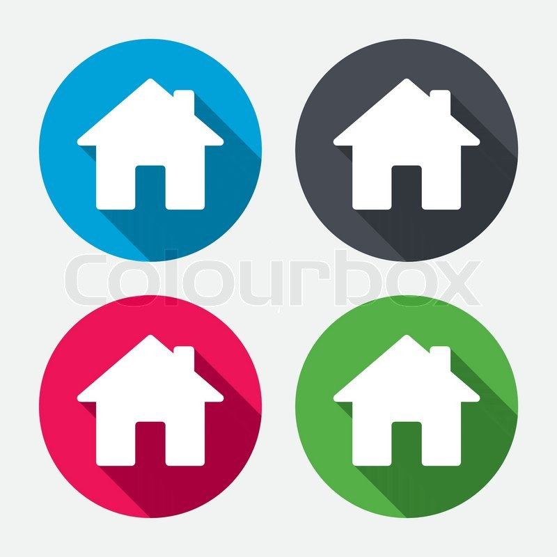 Home Sign Icon Main Page Button Navigation Symbol Circle Buttons