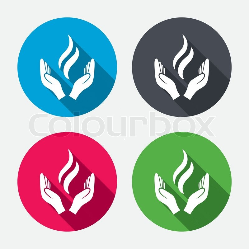 Energy hands sign icon. Power from ...   Stock Vector ...