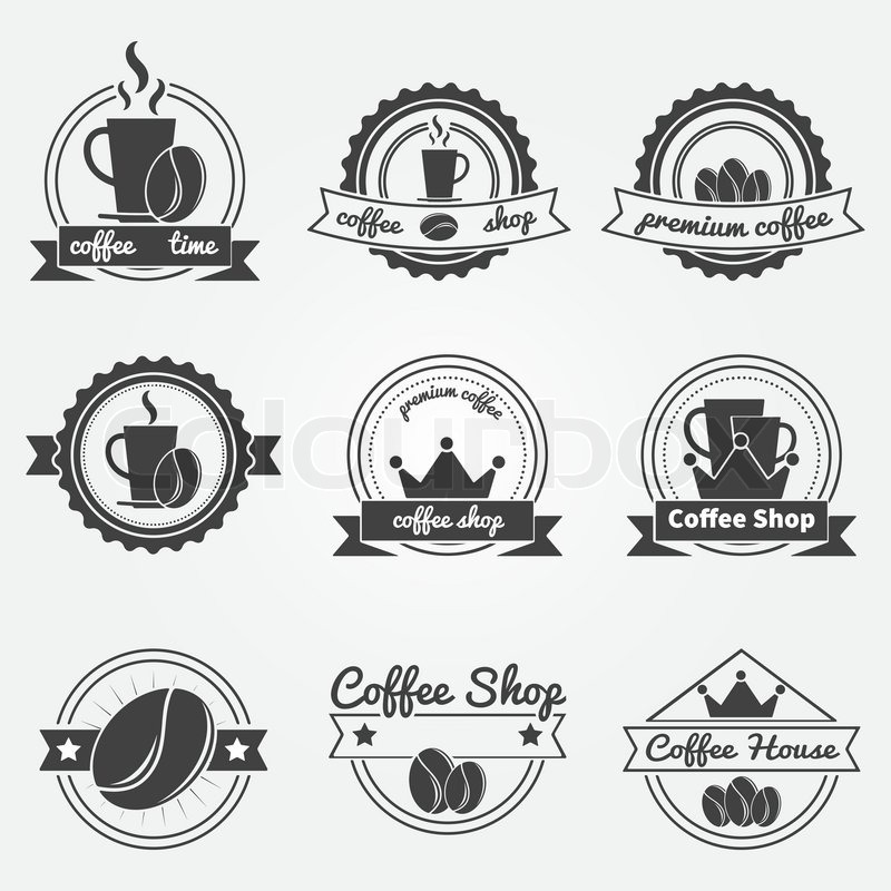 Vintage Coffee Shop Logo Set of Coffee Shop Logos or Vintage Vector Labels Coffee Decoration