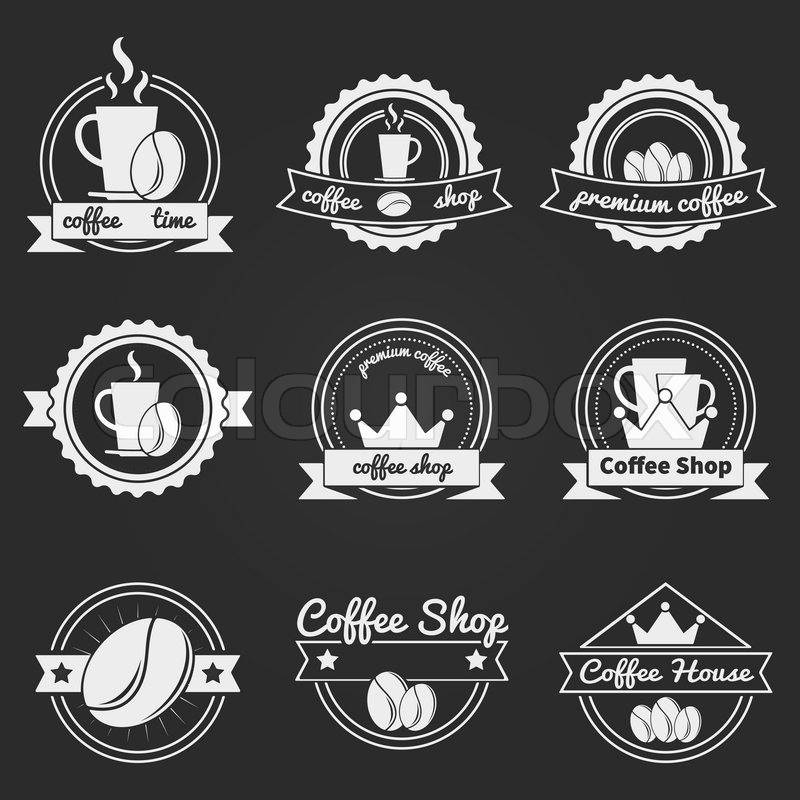Vintage Coffee Shop Logo Set of Coffee Shop Logos or