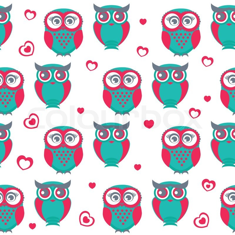 Cute owls seamless pattern vector illustration can be used for cute owls seamless pattern vector illustration can be used for web paper wrap wallpaper textile and other design valentines background vector voltagebd Images