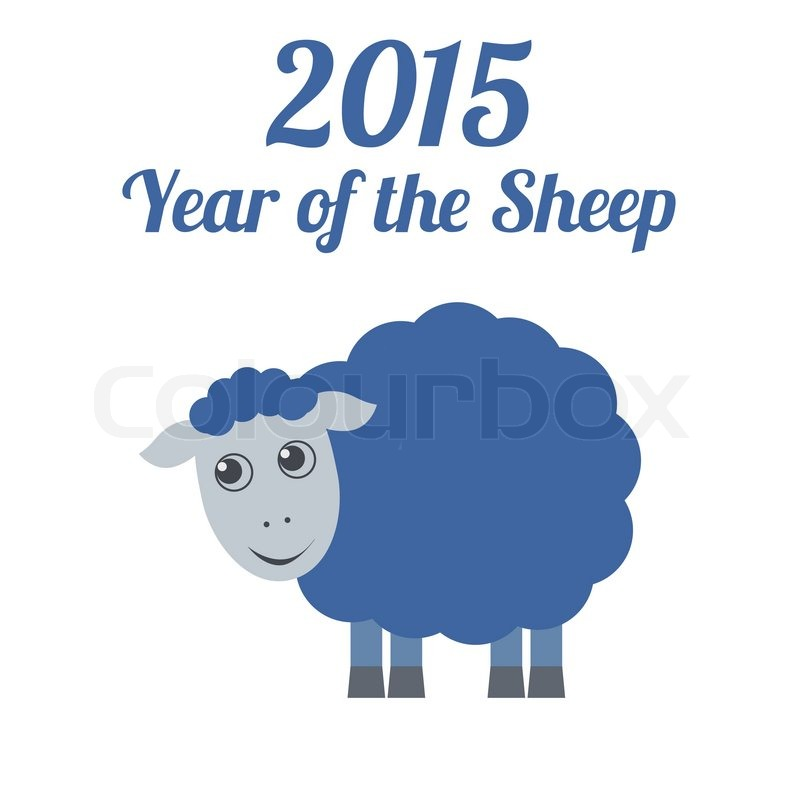 Stock vector of 'Chinese New Year of the Sheep 2015. Vector illustration.'