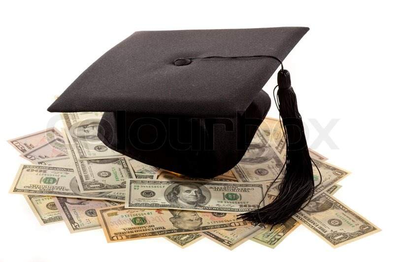 Mortar And Dollars Symbol For Education Costs In America Stock